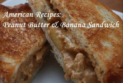 American recipes: Peanut butter & banana sandwich