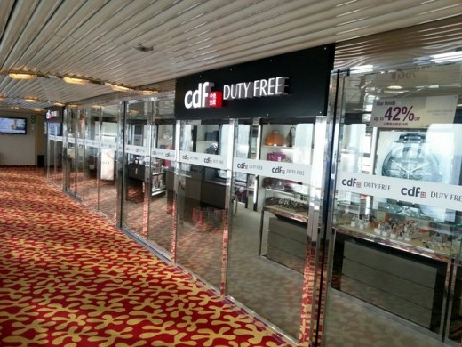 Duty free shops onboard Superstar Libra