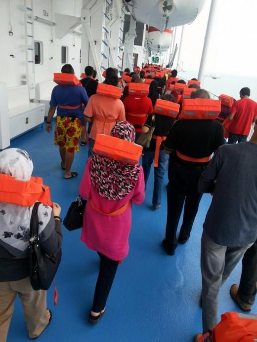 Passenger Safety Drill on Superstar Libra, in progress