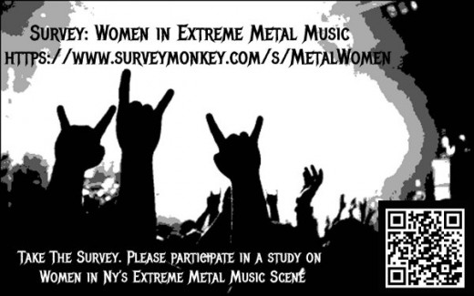 To all female metal fans, click on the link to take a survey!