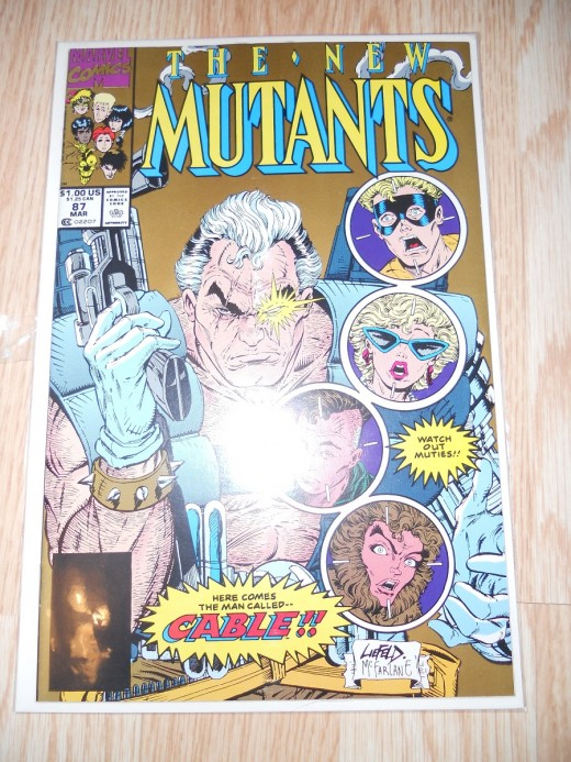 Second printing of New Mutants 87, not nearly as valuable as 1st printing
