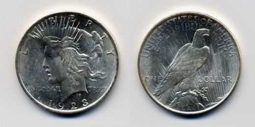 "1923 American ""Peace Dollar"""