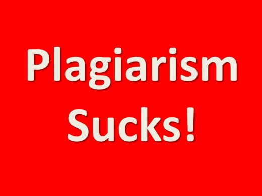 Would you agree that plagiarism sucks?