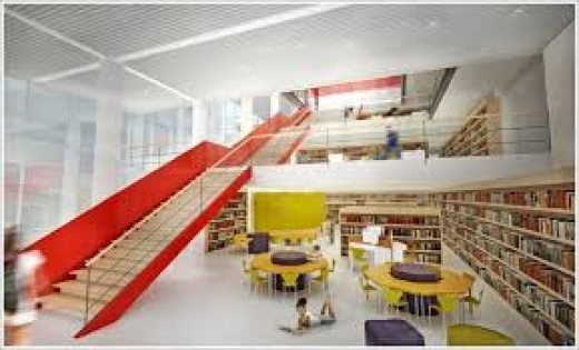 Libraries today are bright and often avant-garde