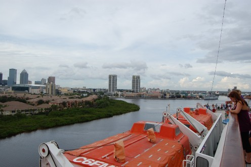 Leaving the Port of Tampa