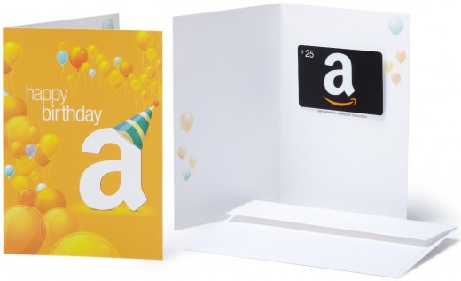Amazon Gift Cards in a Greeting Card