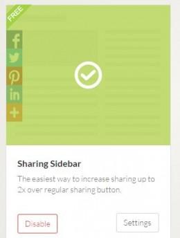 """Choose """"Sharing Sidebar."""""""