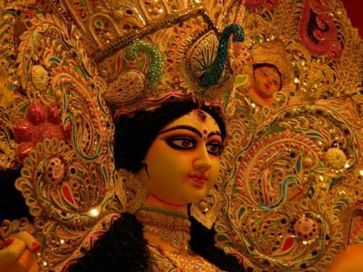 Durga Puja In Kolkata The Best Jewellery Decked Idols 2014