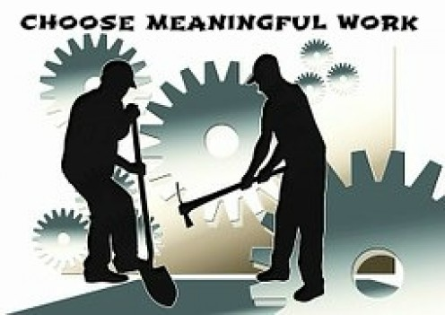 Right livelihood is doing work that is of service to others.
