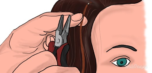 You will need a pair of pliers to crimp the nano bead that attaches the extension to your natural hair.
