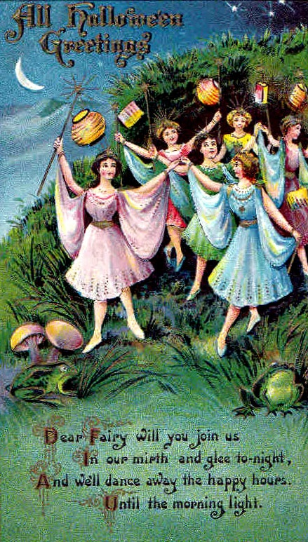 Fairies were well known to roam in the mortal world on Halloween night.