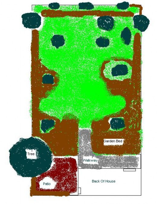 My Backyard Year 3 (Brown is garden plots)