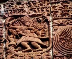 Ravana on his chariot: Ramachandra temple,Guptipara,WB,India