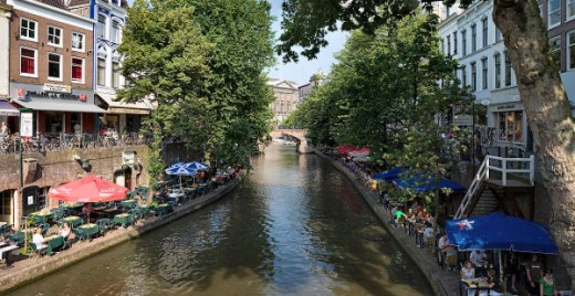 Utrecht: old canal today