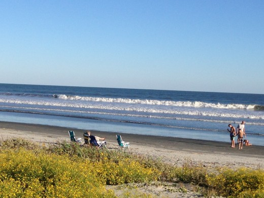 beach time on Kiawah