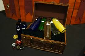 Replica potion vials and container. Source: Google Image Search