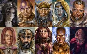 Sampling of character portraits. Source: Google Image Search
