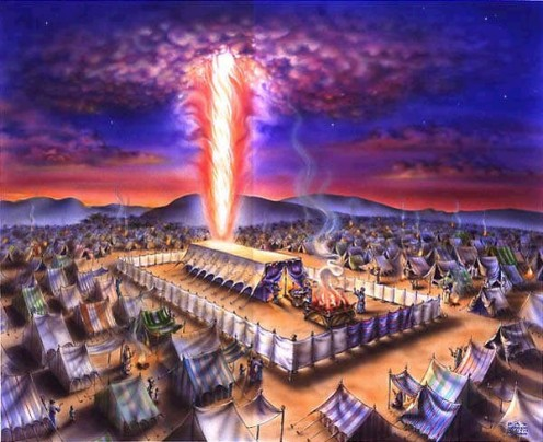 """The cloud of the Lord was over them by day when they set from the camp."""