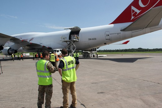 Aid arriving in Sierra Leone to fight Ebola