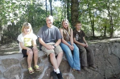 from left to right:  Alana, Caleb, Michaela, Jackson