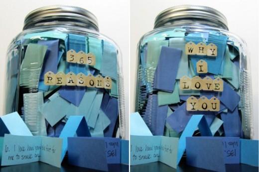 Jar of Romantic Notes
