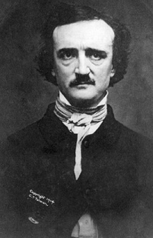 Edgar Allan Poe looking creepy