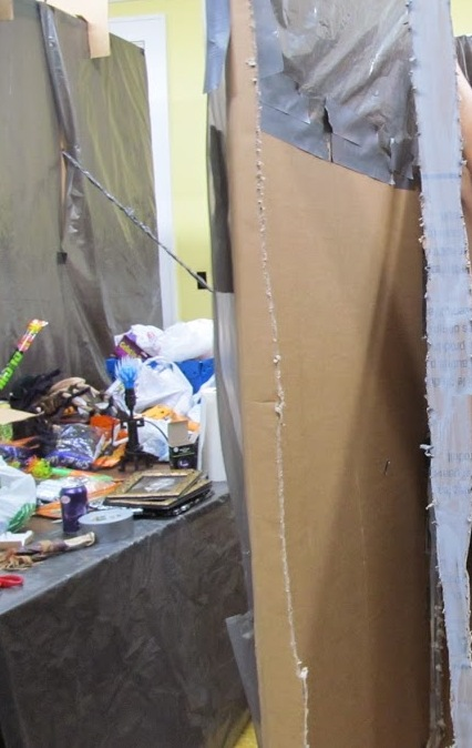 With just a few hours to go, the walls are going up fast, all of the scary props are just waiting to be used.