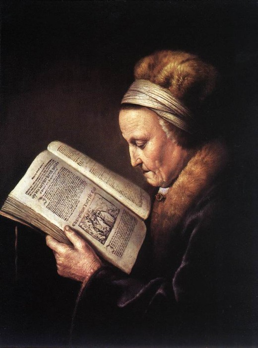 A woman reading the Word