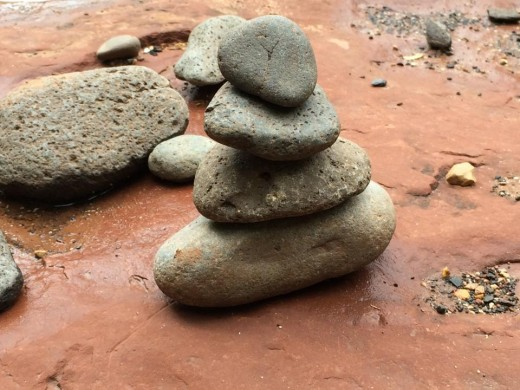 It's very easy to balance rocks at Red Rock Crossing...something about the equilibrium here..