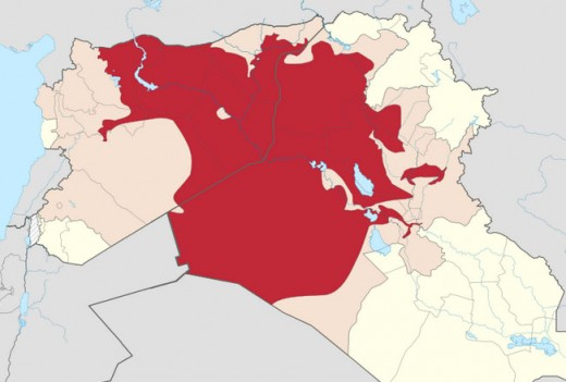 Map of ISIS controlled territory as of October 20, 2014