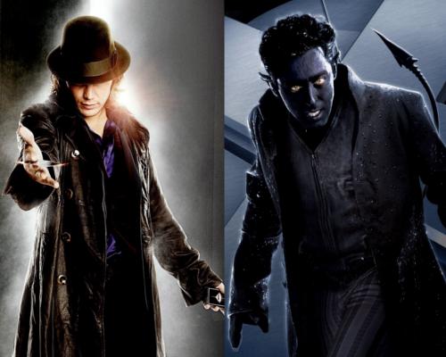 Taylor Kitsch as Gambit and Alan Cumming as Nightcrawler