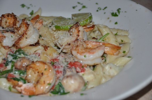 Penne Pasta with Shrimp and Artichokes