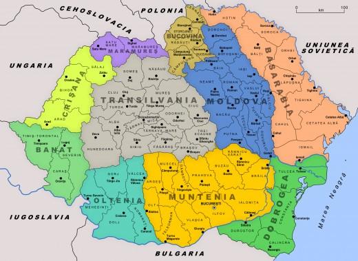 All of moldova inside Romania.(interbellic period)