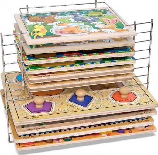 Melissa and doug jigsaw puzzle storage systems