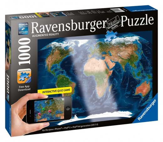 Satellite World Map Augmented Reality Jigsaw Puzzle