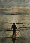 On Burnham Beach, on the Tide She Comes