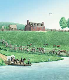 Ferry Farm Illustration by L. H. Barker.