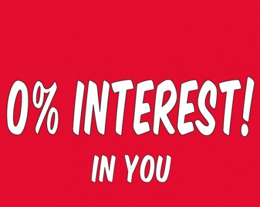 banks have 0 percent interest in you