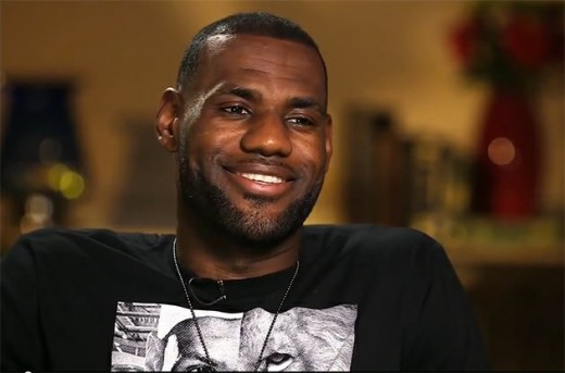 LeBron smiling about the return of his beautiful hairline in an interview with Rachel Nichols