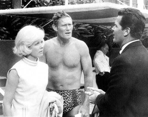 Ellen (Doris) with Stephen (Chuck Connors) and Nick (James Garner)