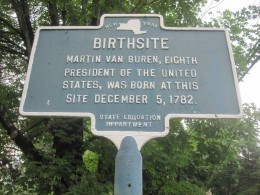 Van Buren birthplace marker.