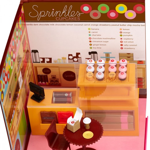 The fully assembled Sprinkles restaurant