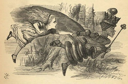 Alice and The Red Queen Picture by John Tenniel