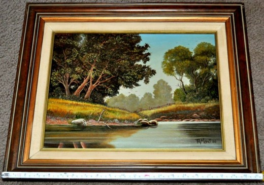 Woodland Creek Landscape Oil Painting on Canvas by Ray Mikrut of Chicago.