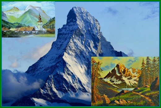 Mountains like the Matterhorn have become an emblem of Ray Mikruts work. He loved the Swiss Alps and the mountains of Easter Europe in general.