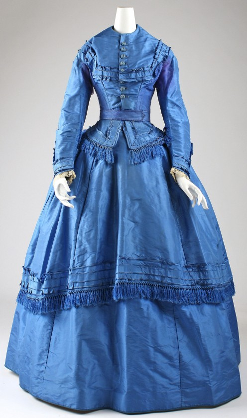 1871 American Wedding ensemble. Gift of Mrs. Sheldon M. Monroe, 1956