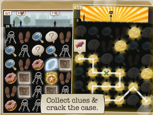 Solve the crimes by collecting clues!