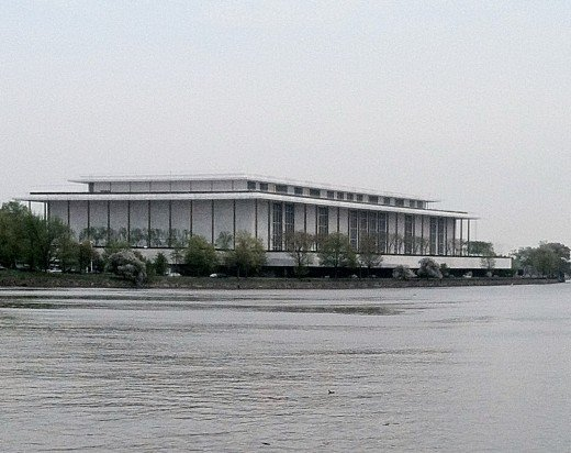 The Kennedy Center as seen from the Georgetown waterfront.