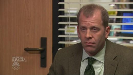 Toby Flenderson's permanent face