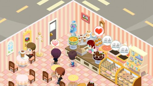 Build your own bakery and serve customers with Bakery Story!